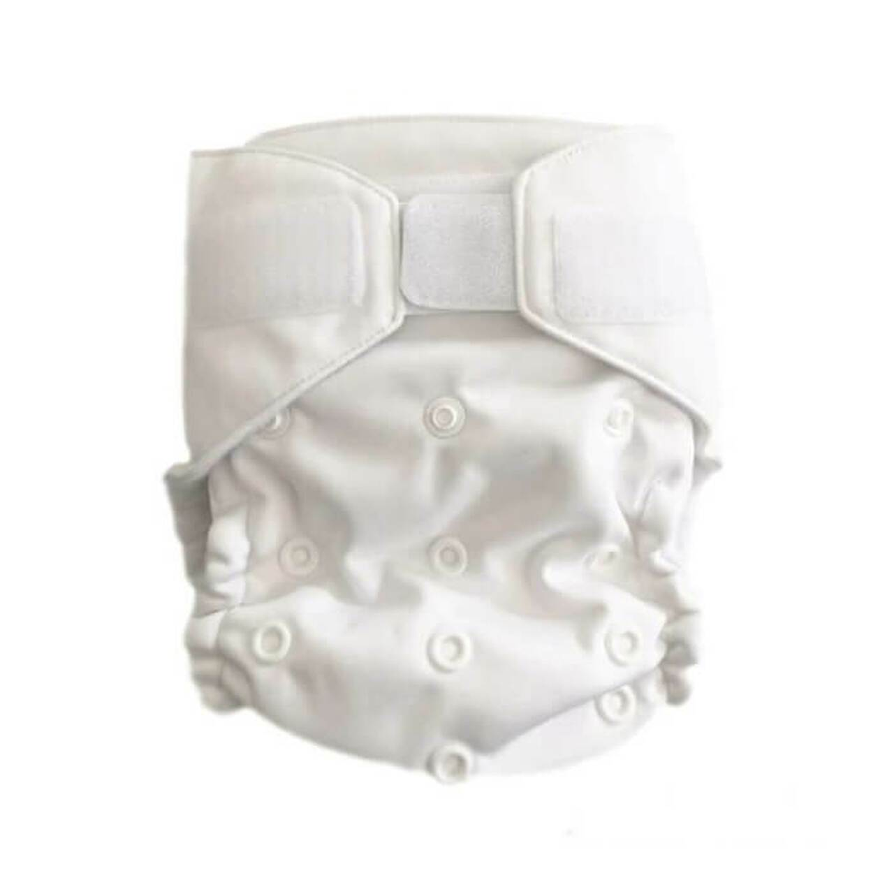 Reusable Nappy - Arctic White - Magicall All-In-Two - Baby Beehinds
