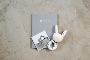 linen covered baby journal