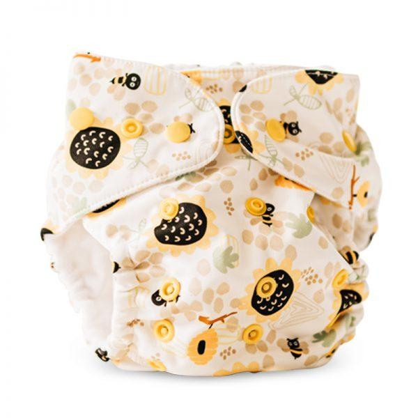 Reusable Nappy - Bee Mine - Magicall Multi-Fit - Baby Beehinds
