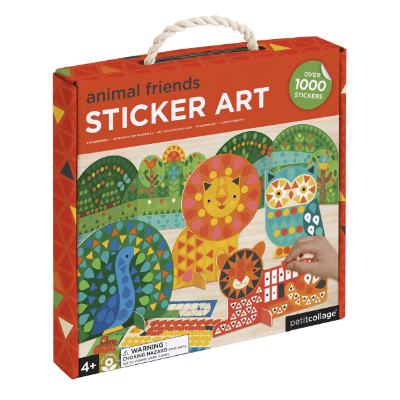 Animal Friends Sticker Art Set - Petit College