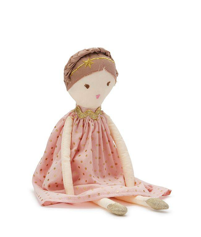 Blush Pink & Gold Dottie Doll