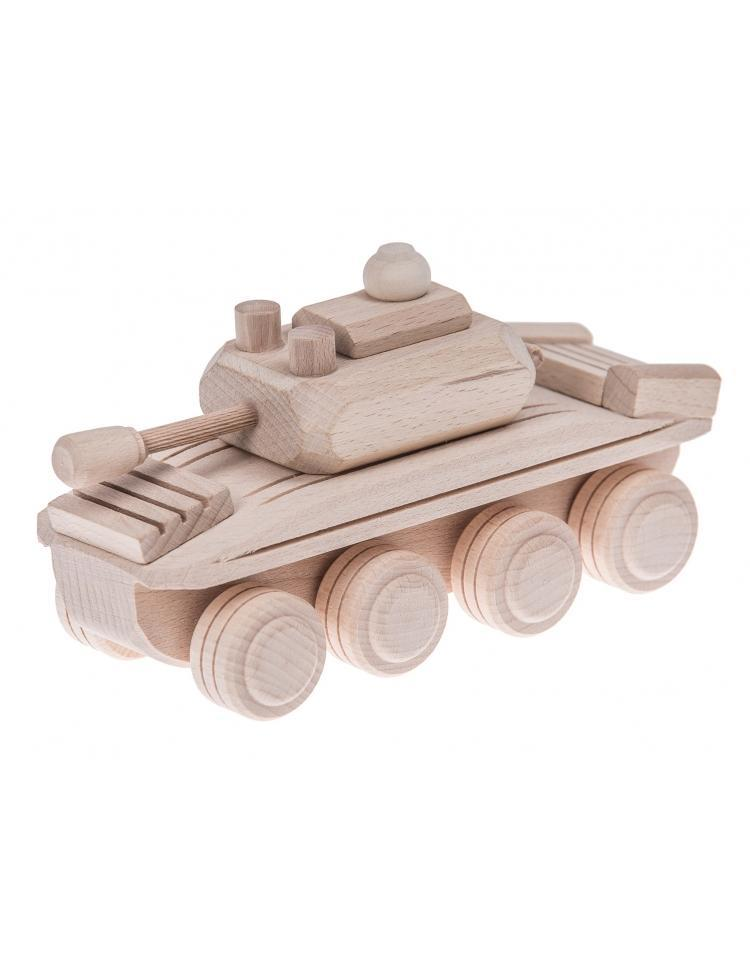 Wooden Toy Army Tank - Happy Go Ducky