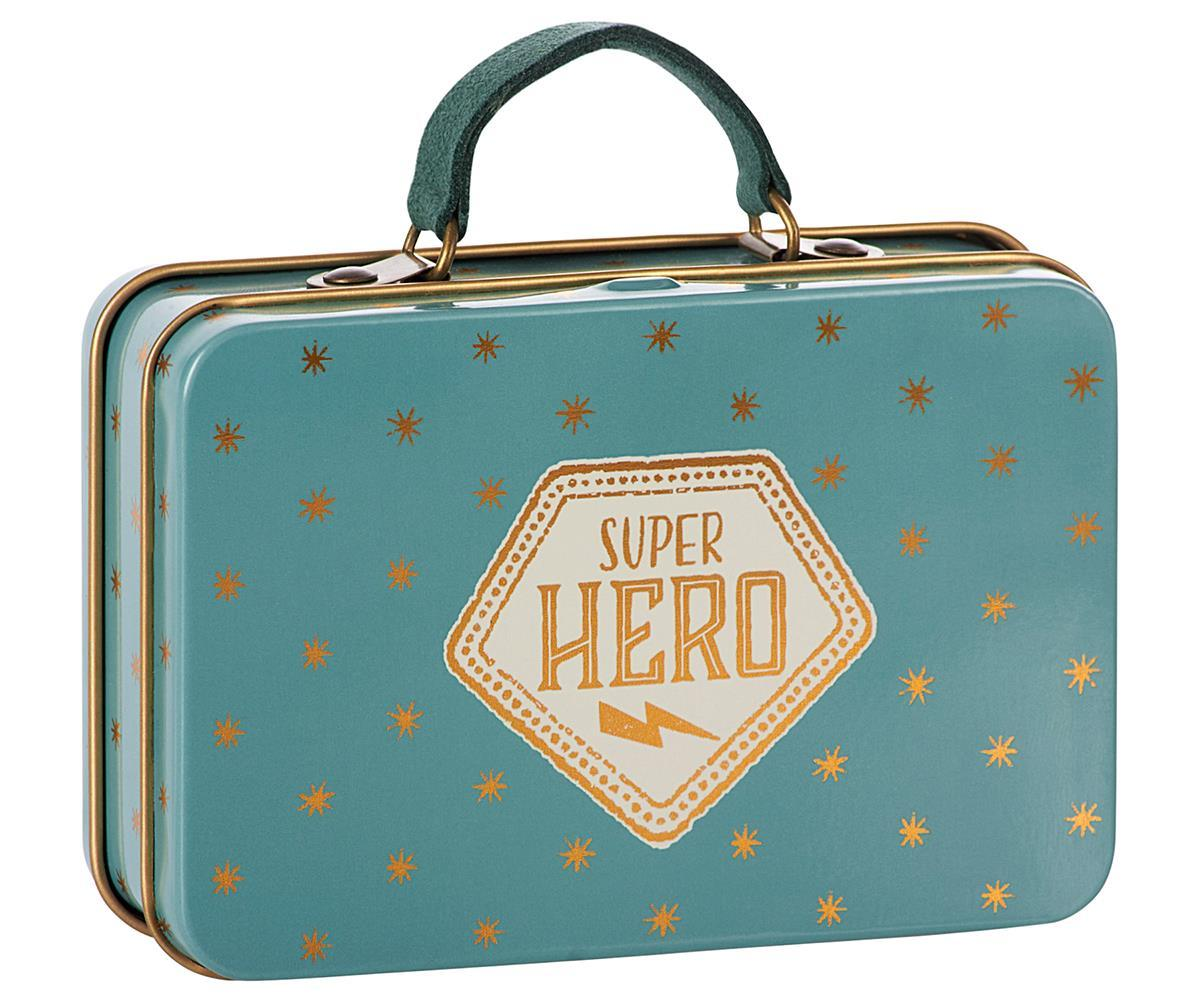 Metal Suitcase Blue Gold Stars - Maileg