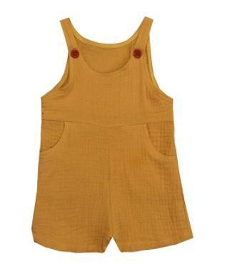 Button Overalls - Sunflower - Ponchik