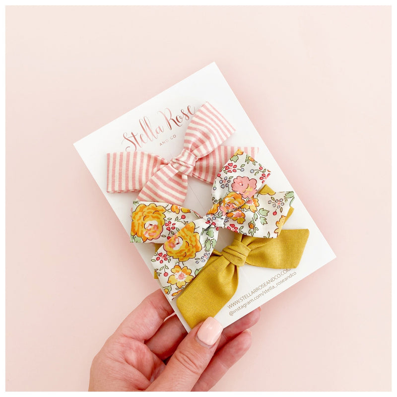 Tilly Bow Headband Set - Stella Rose & Co