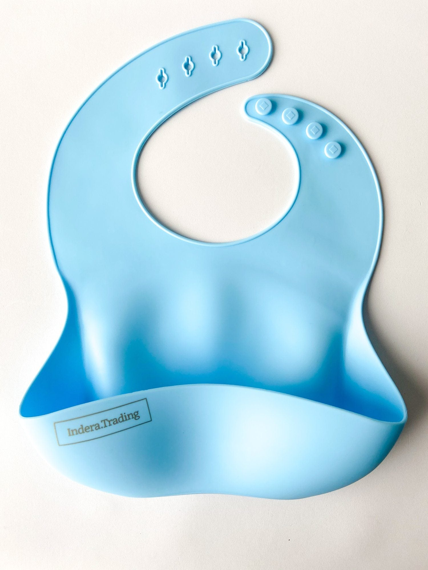 Silicone Bib - Sky Blue - Indera Beads