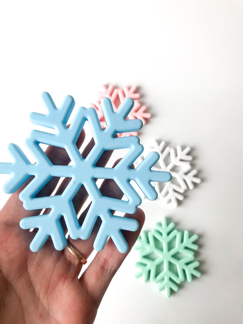 Snowflake Teether - Blue - Indera Beads