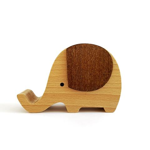 Wooden Musical Elephant - Raw - Baby Jones Designs