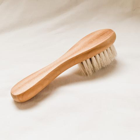 Goats Hair Wooden Baby Brush - Baby Jones Designs