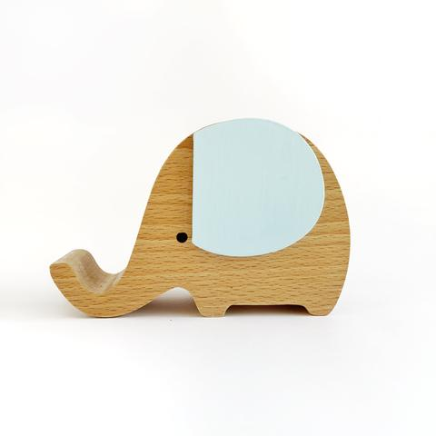 Wooden Musical Elephant Blue - Baby Jones Designs