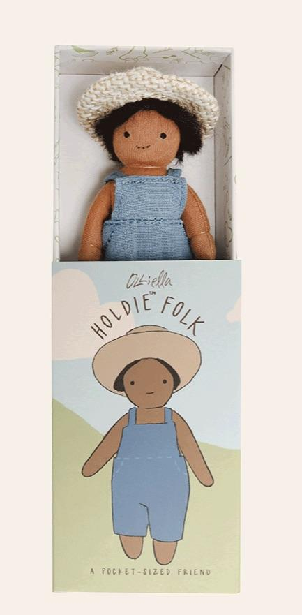 Holdie Folk - Forest Farmer doll - Olli Ella