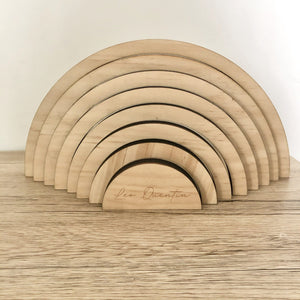 Raw Rainbow Wooden Stacker - Timber Tinkers DISCOUNTED