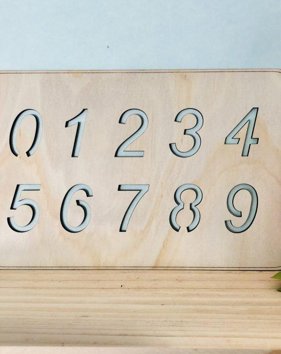 Wooden Stencil - Numbers - Timber Tinkers