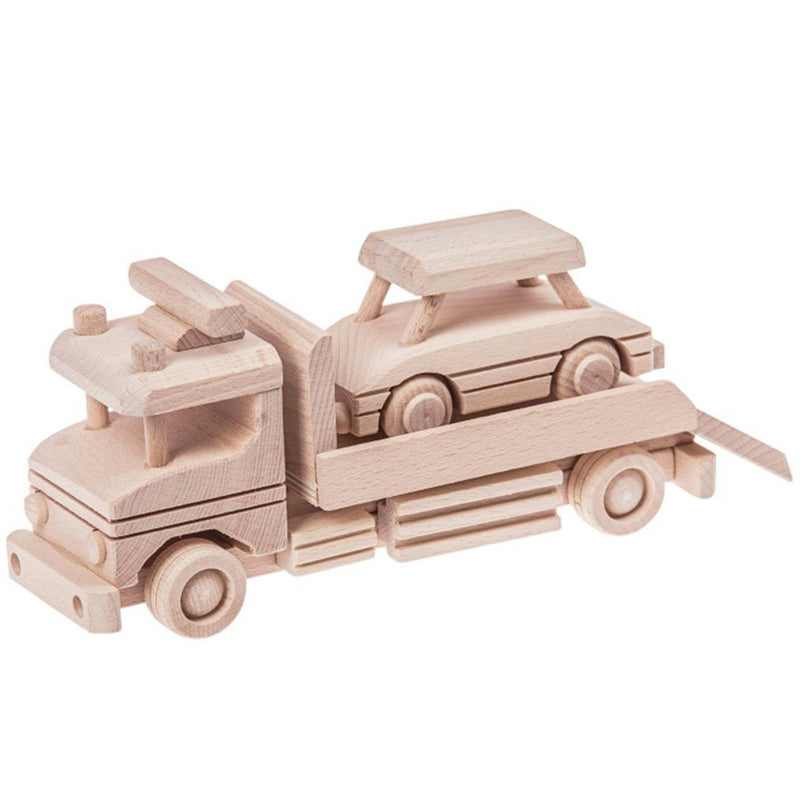 Wooden Tow Truck with Car - Jackson - Happy Go Ducky