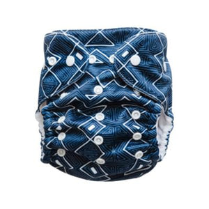 Reusable Nappy - Midnight Maze - Magicall Multi-Fit - Baby Beehinds