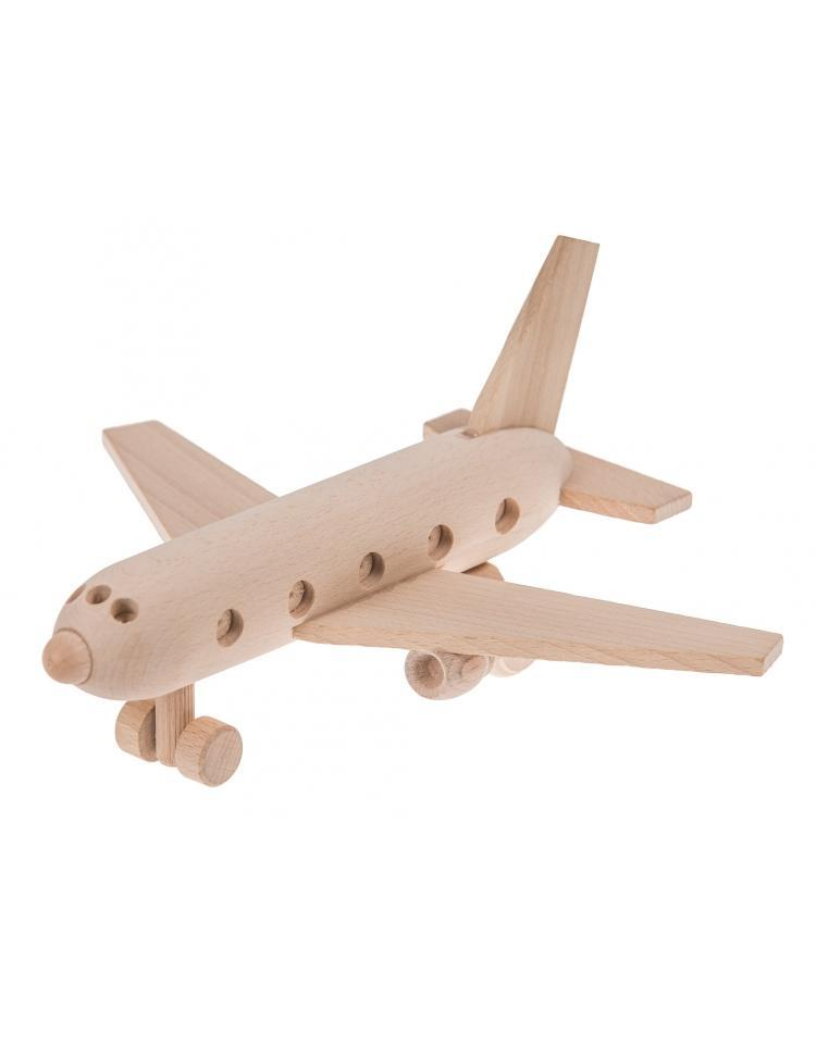 Wooden Toy Passenger Plane - Sully - Happy Go Ducky