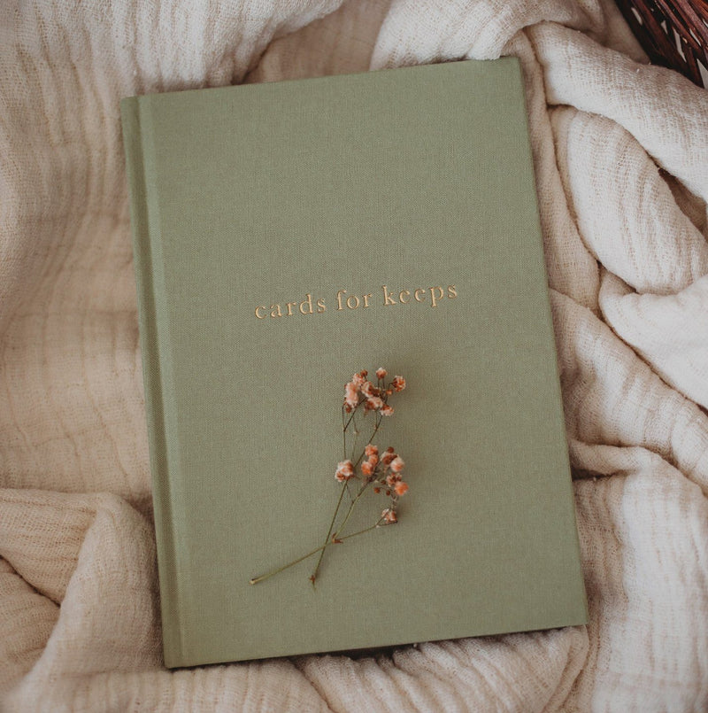 Cards for Keeps - Sage Green - Journal - Write to me