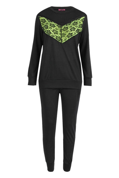 Knitted Lounge wear Set Sweatshirt Joggers Tracksuit - The Celebrity Fashion