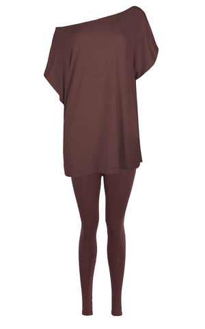 Off The Shoulder Baggy Oversized Batwing Sleeve Lounge Wear - The Celebrity Fashion