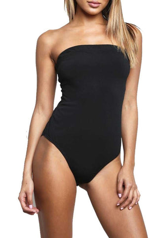 Boob Tube Bandeau Leotard Bodysuit Top - The Celebrity Fashion