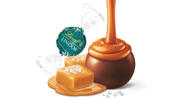 WE'RE CELEBRATING LINDT LINDOR CARAMEL WITH A NEW SALTED MILK CHOCOLATE FLAVOUR