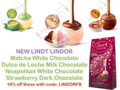 The Chocolate Emporium: NEW Lindt Lindor Flavours - Neapolitan, Dark Strawberry, Dulce de Leche, Matcha,