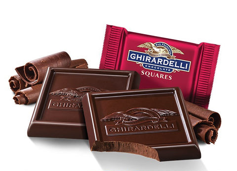 Damaged 60% Dark Chocolate Ghirardelli Squares (10)