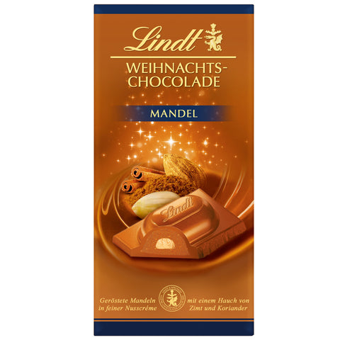 Lindt Spiced Almond Milk Chocolate Bar (100g)