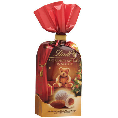 Lindt Christmas Chocolate Covered Nuts - Almonds & White Chocolate (100g)