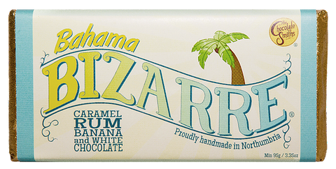 Bahama Caramel Rum & Banana White Chocolate Bizarre Bar - 100g
