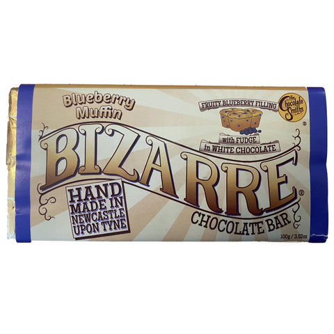 Blueberry Fudge Muffin White Chocolate Bizarre Bar - 100g