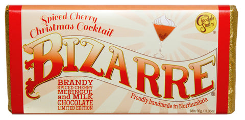 Spiced Cherry Christmas Cocktail Milk Chocolate Bizarre Bar - 100g