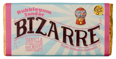 Yes you read it! Bubblegum flavour in a white chocolate bar! A beautifully designed chocolate bar that takes you back to the 80s and that classic flavour of bubblegum ice cream you loved as a kid. The perfect Christmas stocking filler.