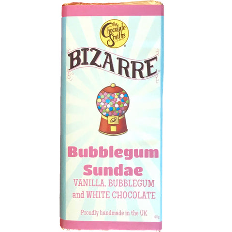 Mini Bubblegum Sundae White Chocolate Bizarre Bar - 40g (Pick & Mix)