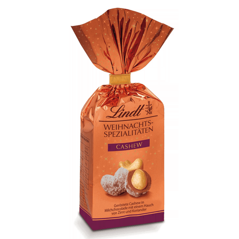 Lindt Chocolate Covered Nuts - Cashews in Milk Chocolate (100g)