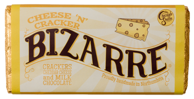 Chocolate and cheese together! A bizarre milk chocolate and cheddar cheese combination with a slight texture of crunchy crackers! The perfect Christmas stocking filler.