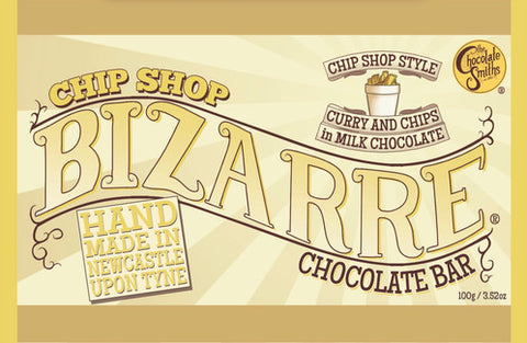 NEW! Chip Shop Curry Milk Chocolate Bizarre Bar - 100g