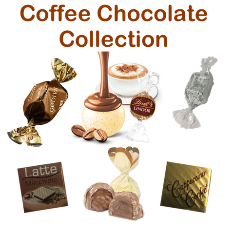 Coffee Collection including Lindt & Godiva (6 varieties)