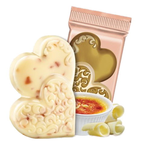 Ghirardelli Creme Brulee White Chocolate Duo Hearts