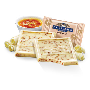 Ghirardelli Creme Brulee White Chocolate Squares