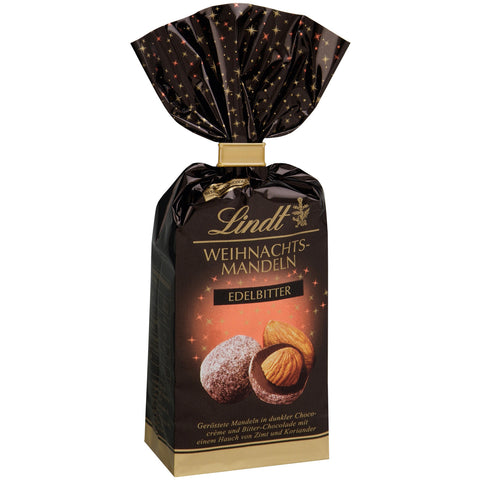 Lindt Chocolate Covered Nuts - Almonds in Dark Chocolate (100g) Best Before End Mar 19