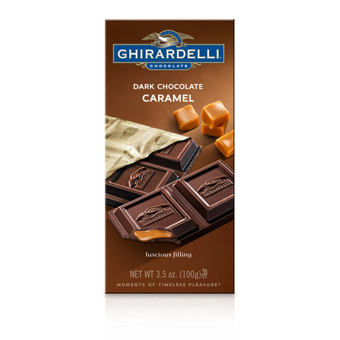 Ghirardelli Dark Chocolate Caramel Bar (100g) Best Before End November 18