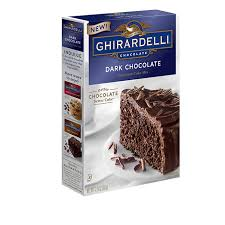 Dark Chocolate Ghirardelli Cake Mix