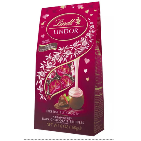 Strawberry Dark Chocolate Mothers Day Lindt Lindor (168g Bag)