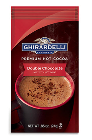 Ghirardelli Double Chocolate Hot Cocoa Sachet (0.85oz) Best Before End Oct 18