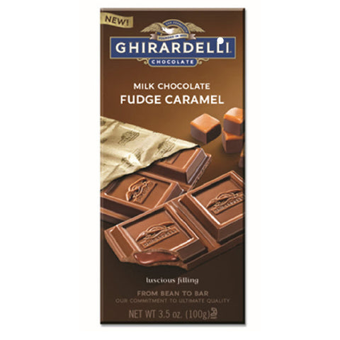 Ghirardelli Fudge Caramel Milk Chocolate Bar (100g)