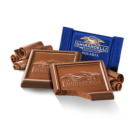 Damaged Milk Chocolate Ghirardelli Squares (10)