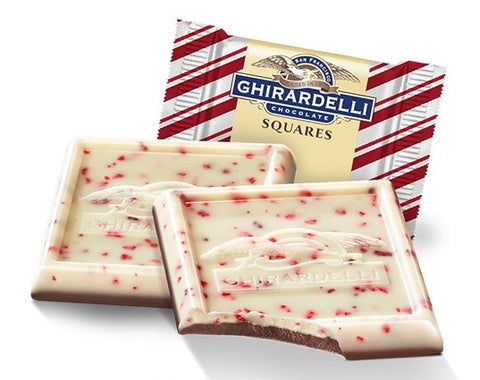 Damaged Peppermint Bark Milk Ghirardelli Squares (10)