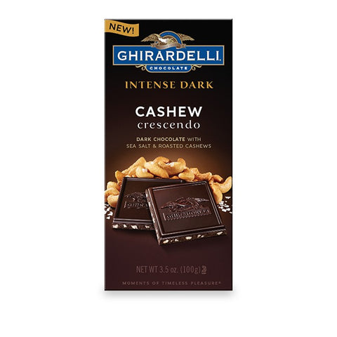 Ghirardelli Dark Chocolate & Cashew Bar (100g)