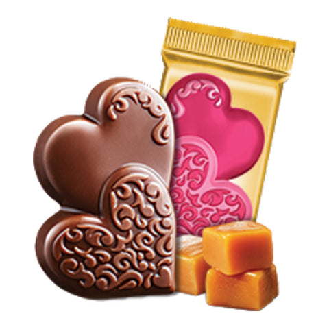 Ghirardelli Caramel Milk Chocolate Duo Hearts